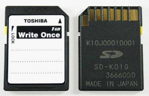 Toshiba Write Once SD Card