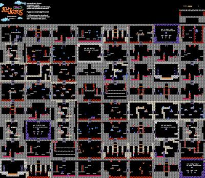 Le plan du donjon 3-4 dans Kid Icarus sur Nes