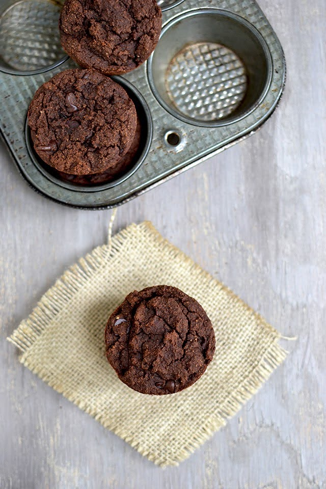 Coconut Flour Chocolate Muffins (Eggless, vegan recipe)