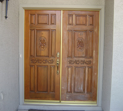Desert Rose Door Refinishing