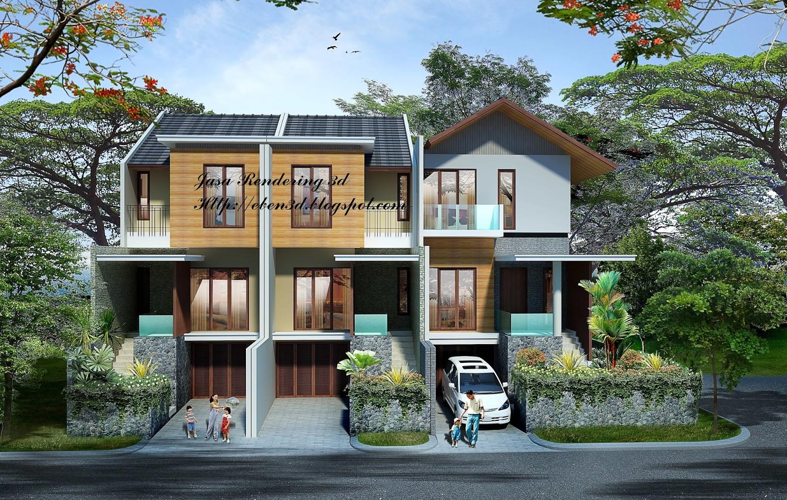 Rendering 3D Rumah 2 Lantai ~ e b e n 3 d i m p r e s s i o n s