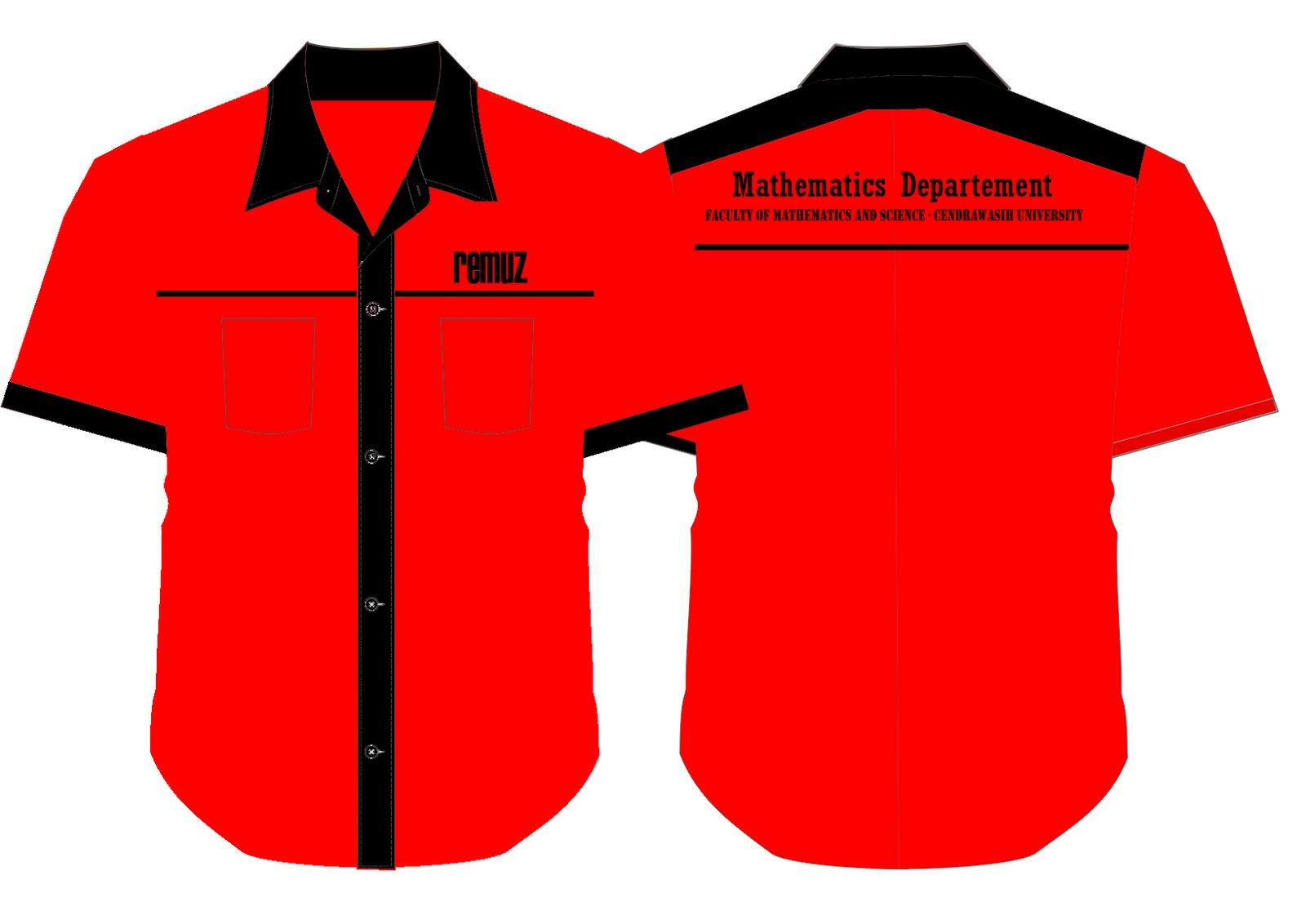 desain baju kemeja jurusan matematika fmipa uncen