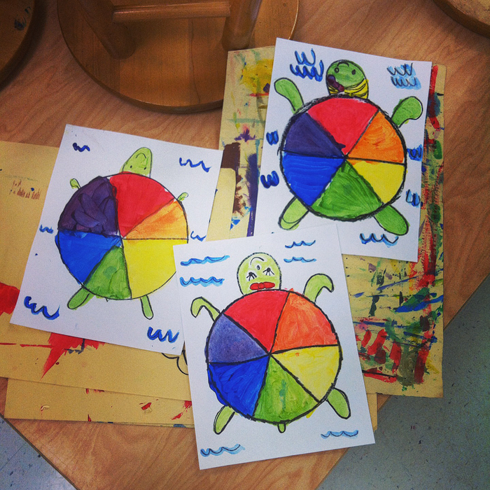 teach and shoot elementary art unit color theory