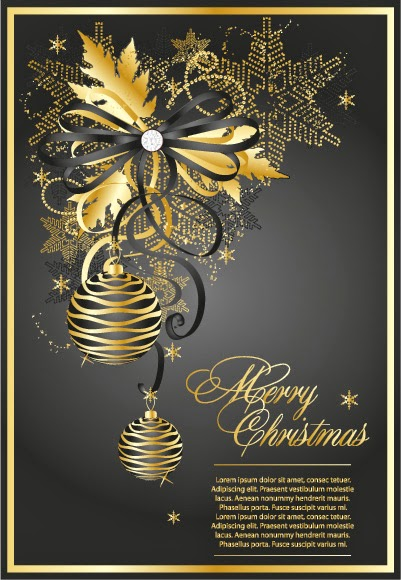 felicitación navideña moka y oro