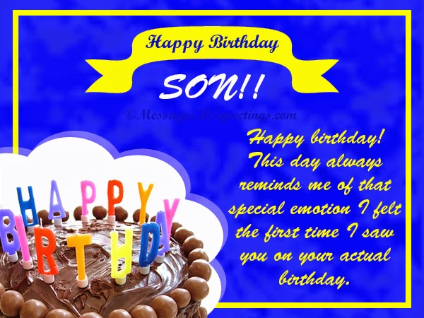 All wishes message Greeting card and Tex Message Birthday – Happy Birthday Card Son