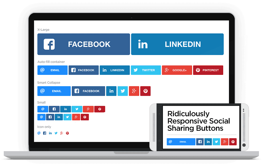 Ridiculously Responsive Social Sharing Buttons