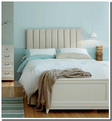 Nassima home chambre moderne bleu aqua et beige pastel de - Chambre bleu et beige ...