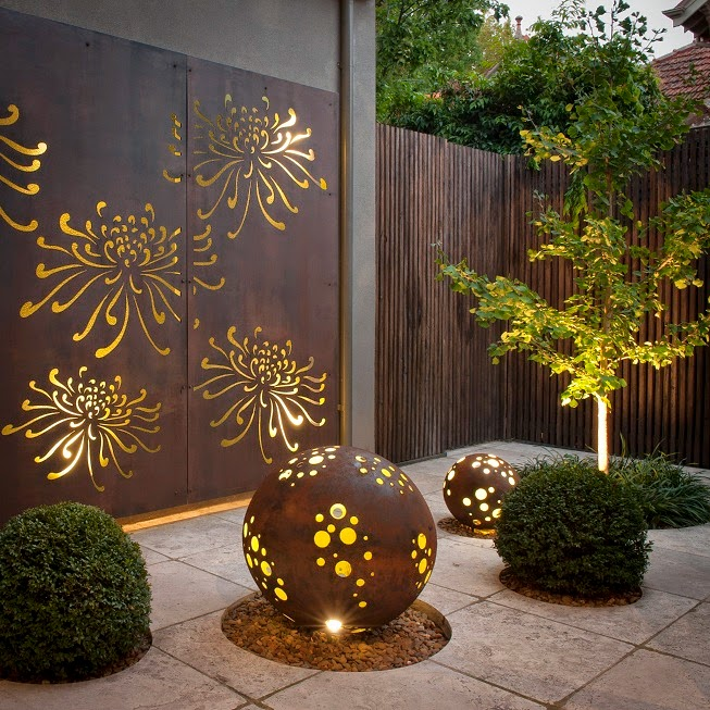Corten stal w kolorze rdzy for Garden feature screens