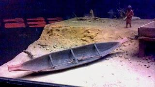 Kawkiutl dugout canoe model