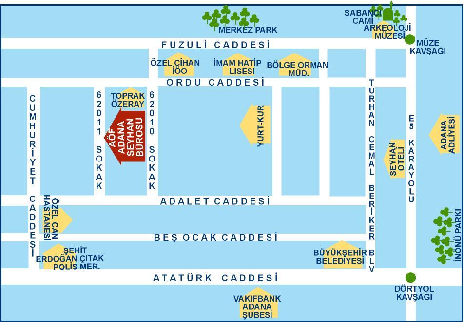 Adana Toros AÖF Büro Telefon Numarası ve Adresi