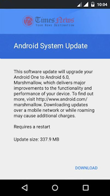 Ponsel Android One Kini Mulai Terima Update Marshmallow