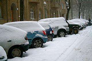 Rue berlinoise sous la neige