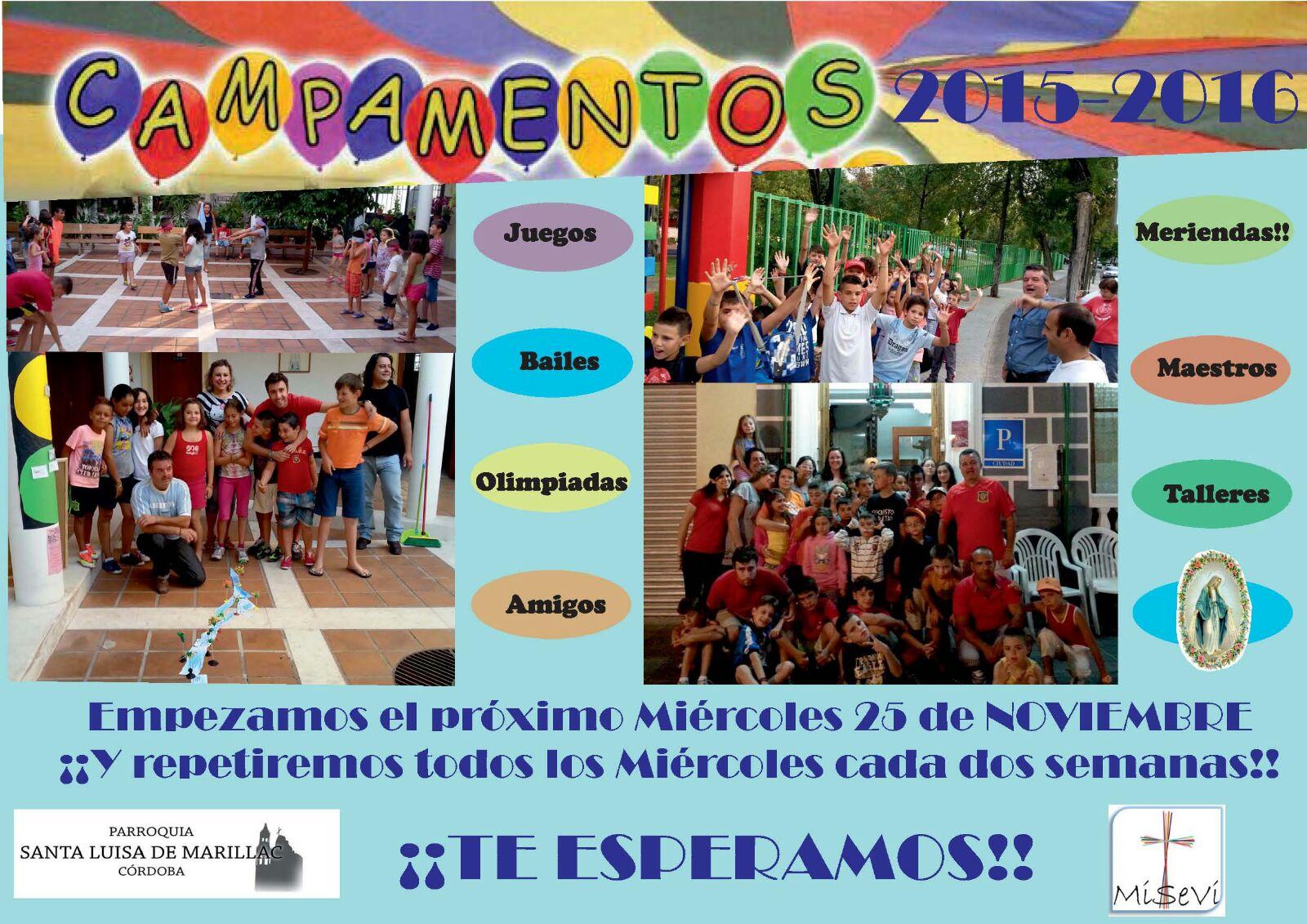 CAMPAMENTOS 2015-16