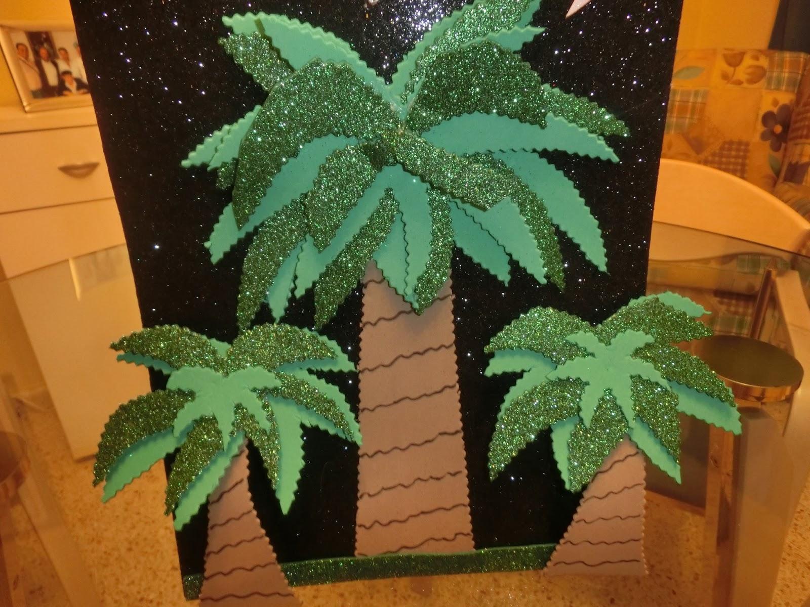 Mis creaciones palmeras con goma eva - Como hacer una palmera artificial ...