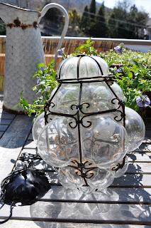 Il giardino del brocante come ho arredato la mia terrazza - Lanterne da esterno in ferro battuto ...
