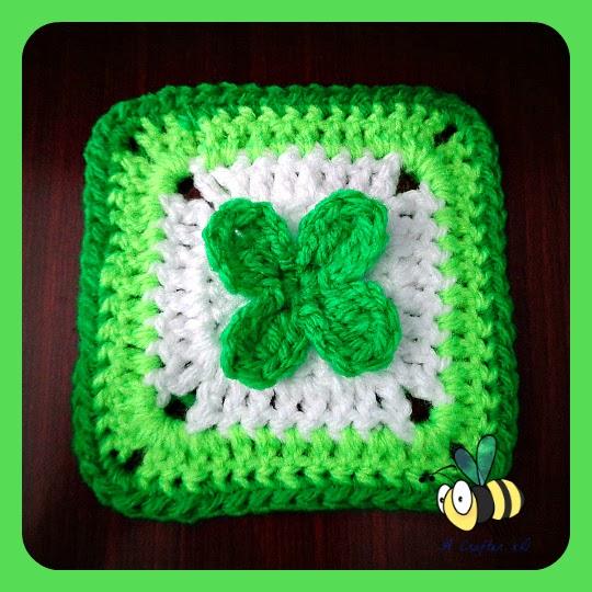 4 Leaf Clover Granny Square Free Crochet Pattern