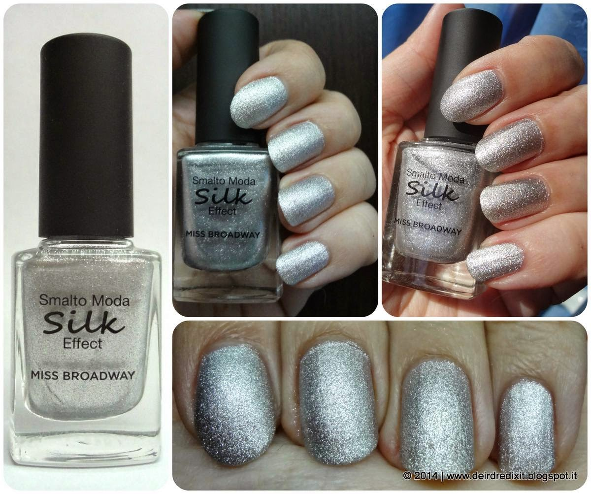 Swatch smalto Silver Silk Effect Miss Broadway
