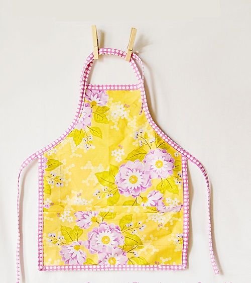 sew apron for girl