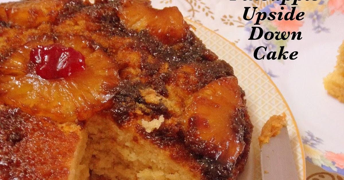 Pineapple Upside Down Cake Recipe Eggless