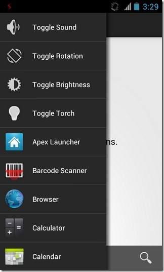 Hapus Aplikasi Android yang Berjalan dengan Sidebar