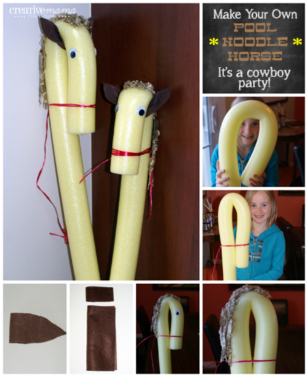 It's a Western Cowboy Party - Make your own Pool Noodle Horses
