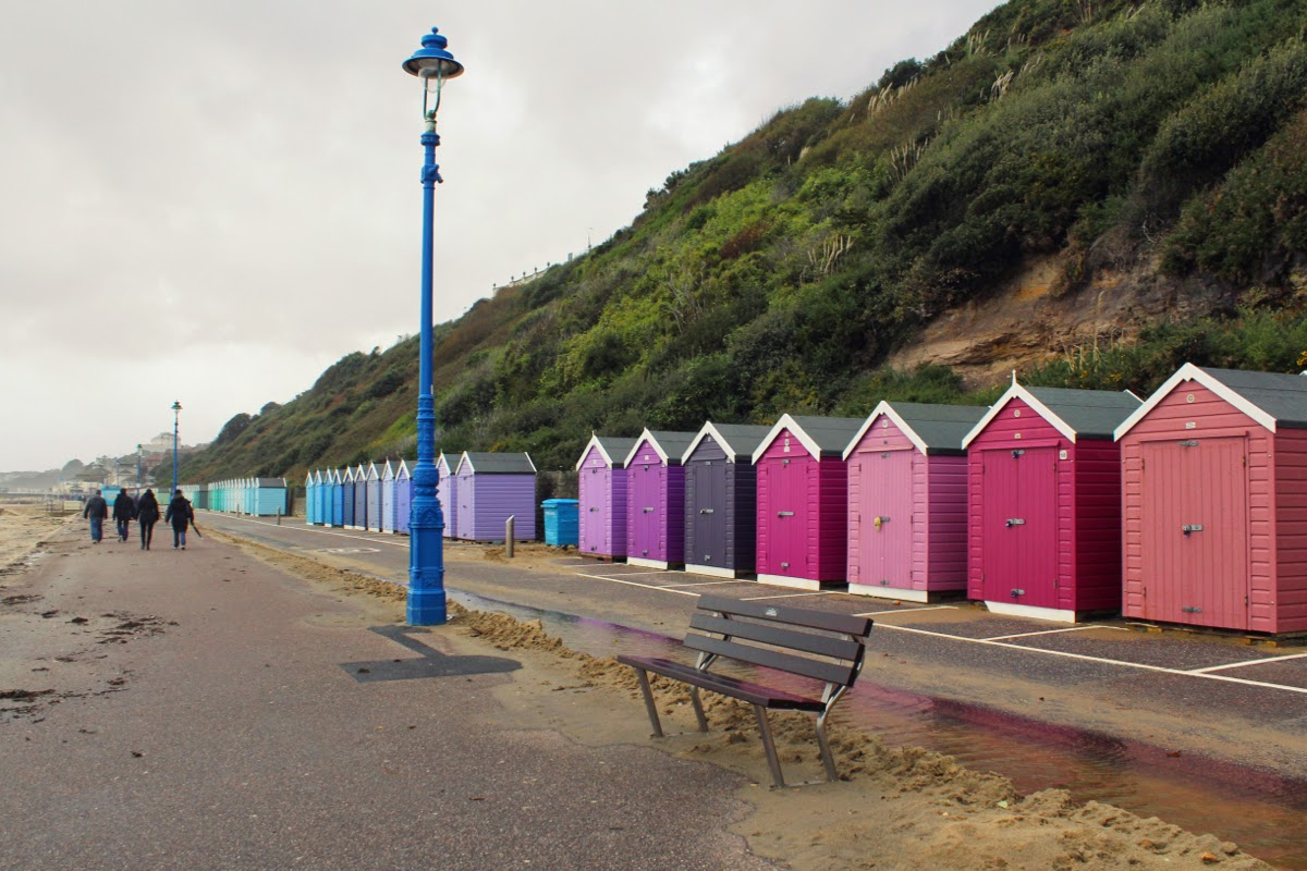 Bournemouth, beach huts, rainbow, photography, beach