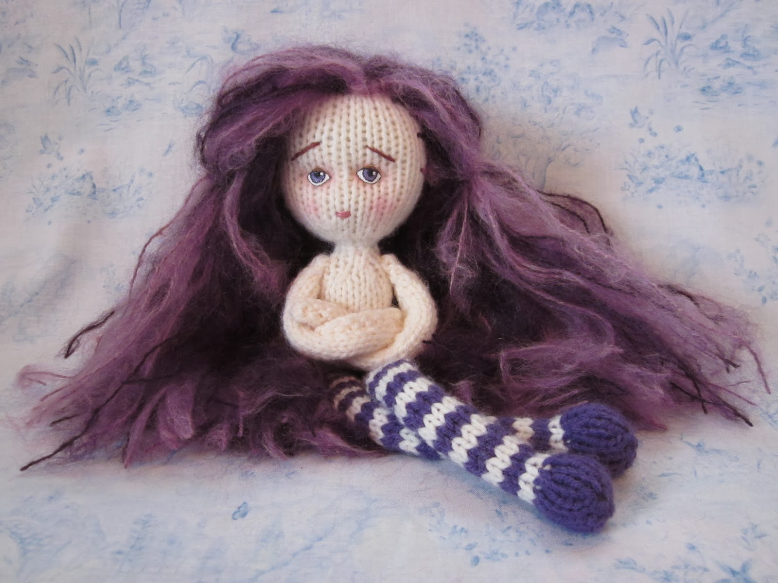 Free Knitting Pattern Mermaid Doll : By Hook, By Hand: Knit Travel Doll by Fiona McDonald