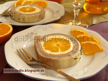Pomarančová roláda - recepty