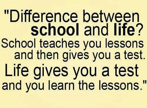 nice quote about school and life inspirational picture