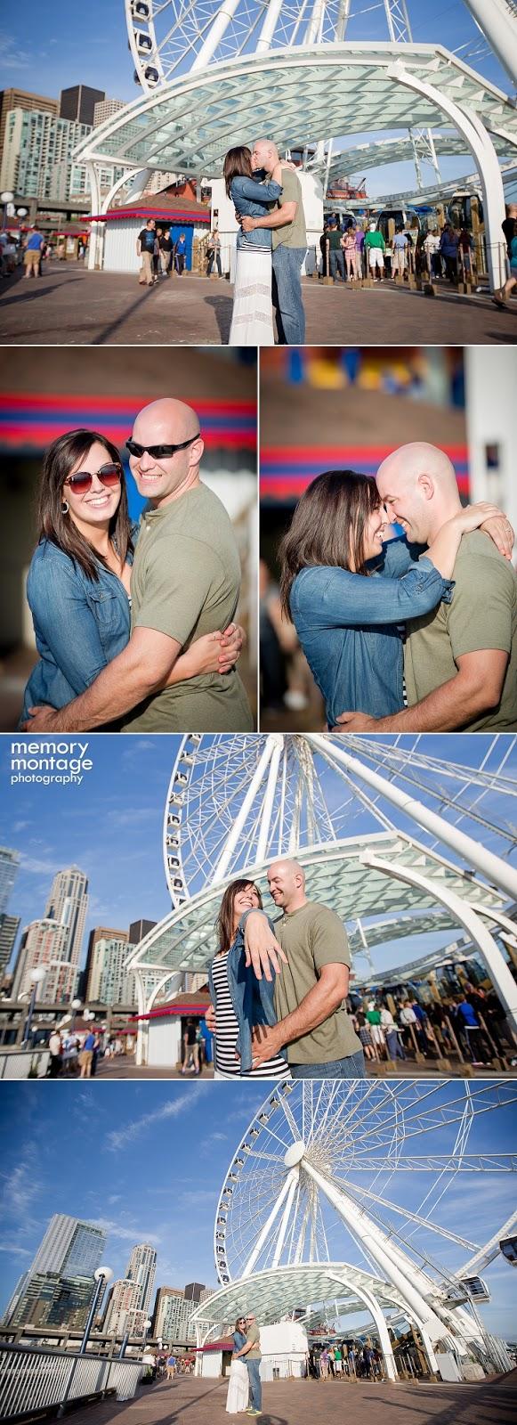 Seattle Proposal, Seattle Great Wheel Proposal, Seattle Waterfront Proposal, Proposal Photography, Seattle Photographers, Seattle Wedding Photographers, Memory Montage Photography - 01