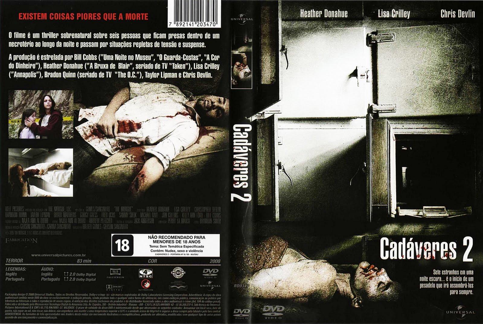 Cadáveres 2 O Necrotério DVD Capa