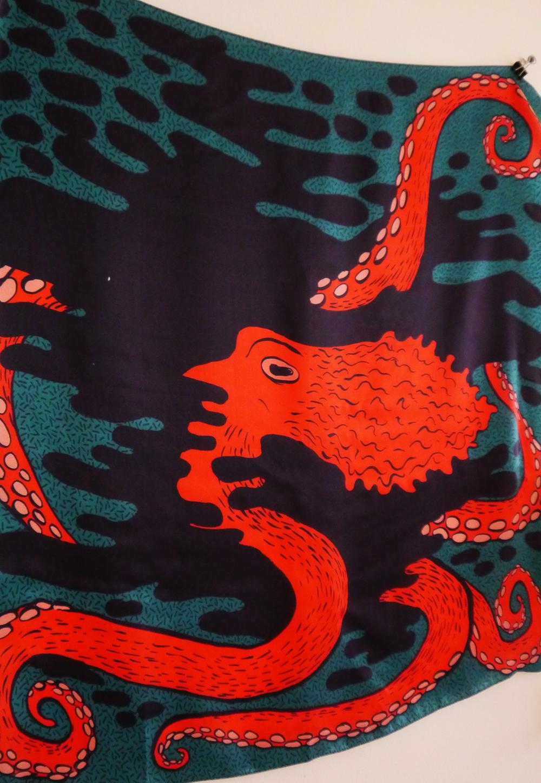Scarf School, Scarf School Graduation, Edinburgh, Hill Street Design House, Karen Mabon, Scarf Design, Scottish Bloggers, blogging duo, octopus scarf, octopus print