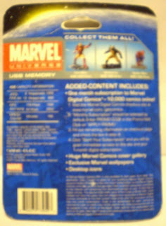 Back of Iron Man USB memory figurine