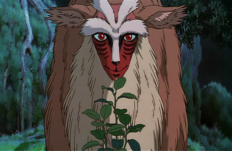 Deer Spirit Princess Mononoke 1997 animatedfilmreviews.blogspot.com