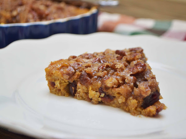 Quinoa Pumpkin Spice Breakfast Bake w/Pecan Streusel