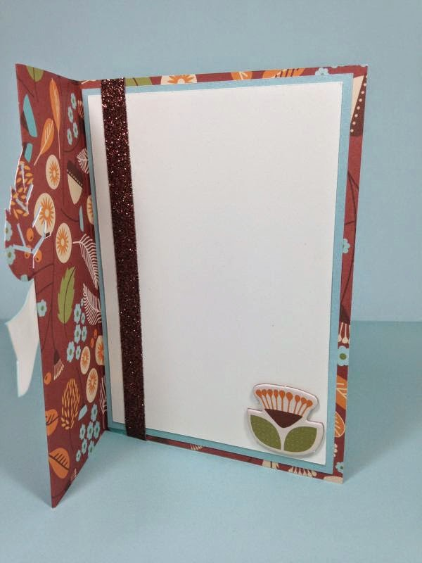 Close To My Heart Artfully Sent Cricut Cartridge Leaf Swing card inside