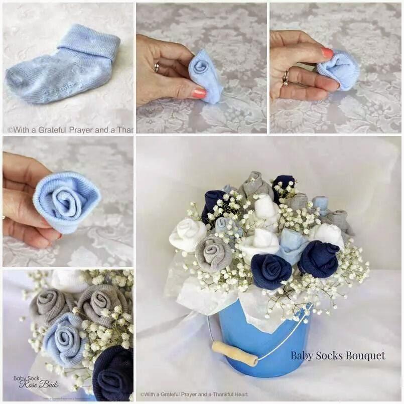 id es fait main comment faire des roses avec des chausettes b b. Black Bedroom Furniture Sets. Home Design Ideas