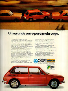 propaganda VW Brasília 1600 - 1973. brazilian advertising cars in the 70. os anos 70. história da década de 70; Brazil in the 70s. propaganda carros anos 70. Oswaldo Hernandez;