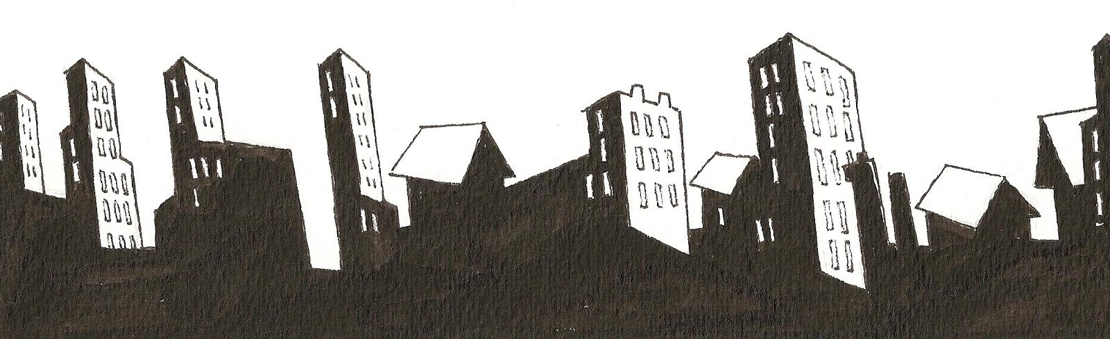 """Particolare della città dalla graphic novel  """"Ci vediamo Domani"""""""