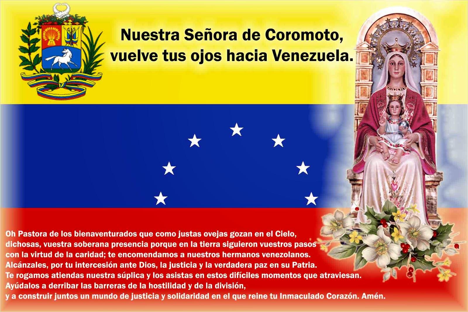 Resultado de imagem para oraçao a nossa senhora pela venezuela
