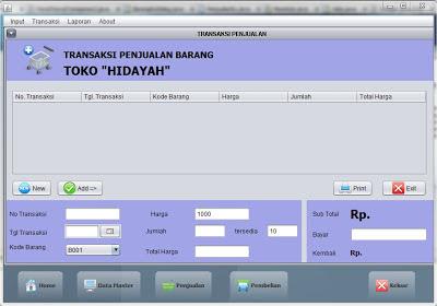 """Source code program Java Netbeans system penjualan """"sederhana dan akurat"""""""