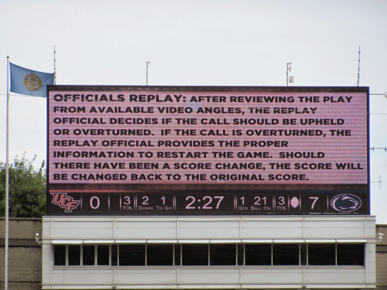 Scoreboard Explanation at Croke Park Classic 2014