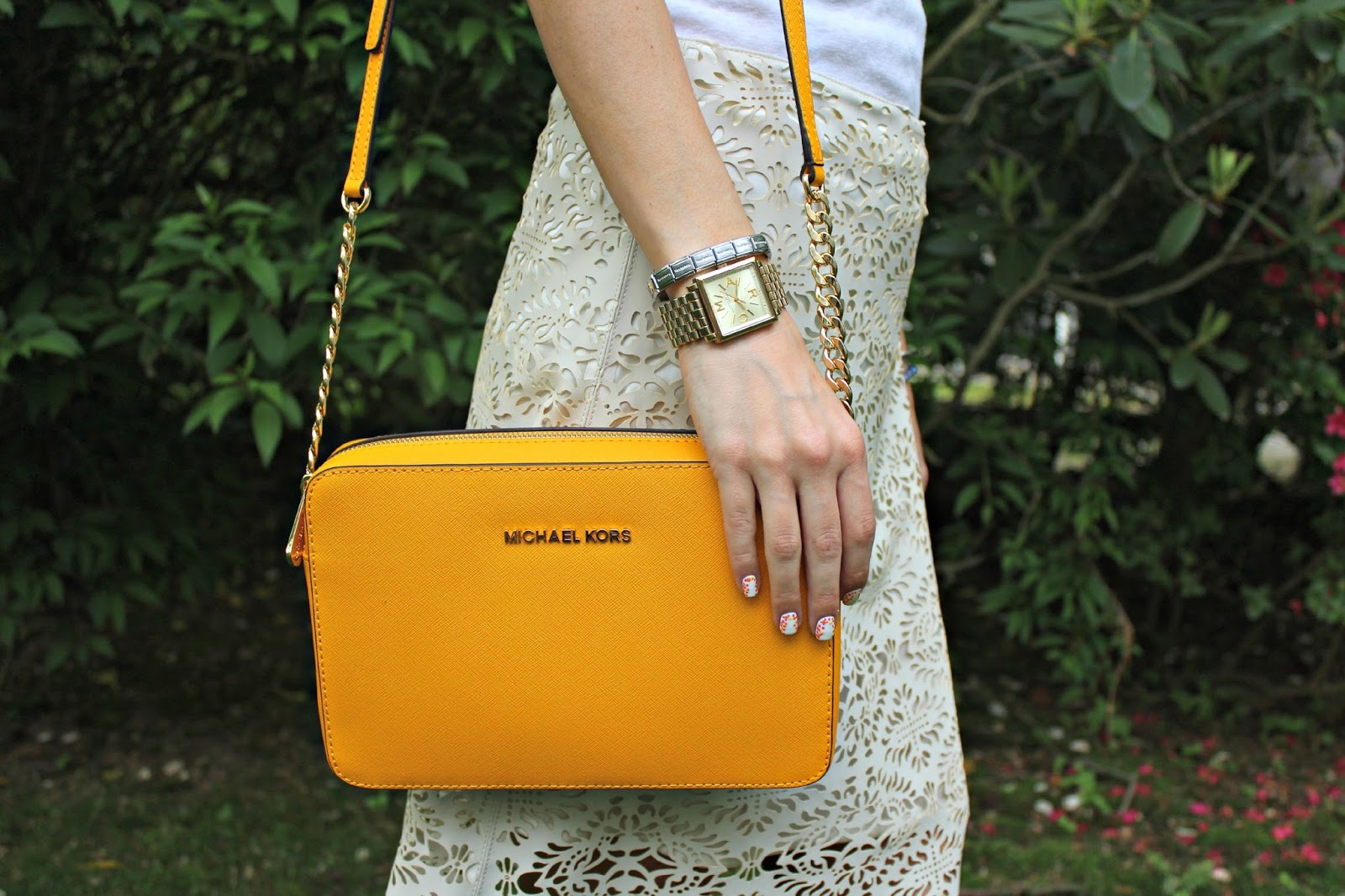 michael kors yellow crossbody bag