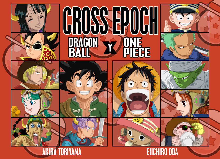 Resultado de imagen para Cross Epoch Dragon Ball y One Piece