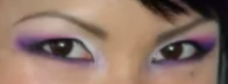 purple white and pink eyes makeup