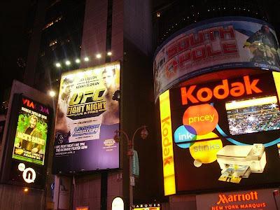 Luminosos de Times Square en Nueva York
