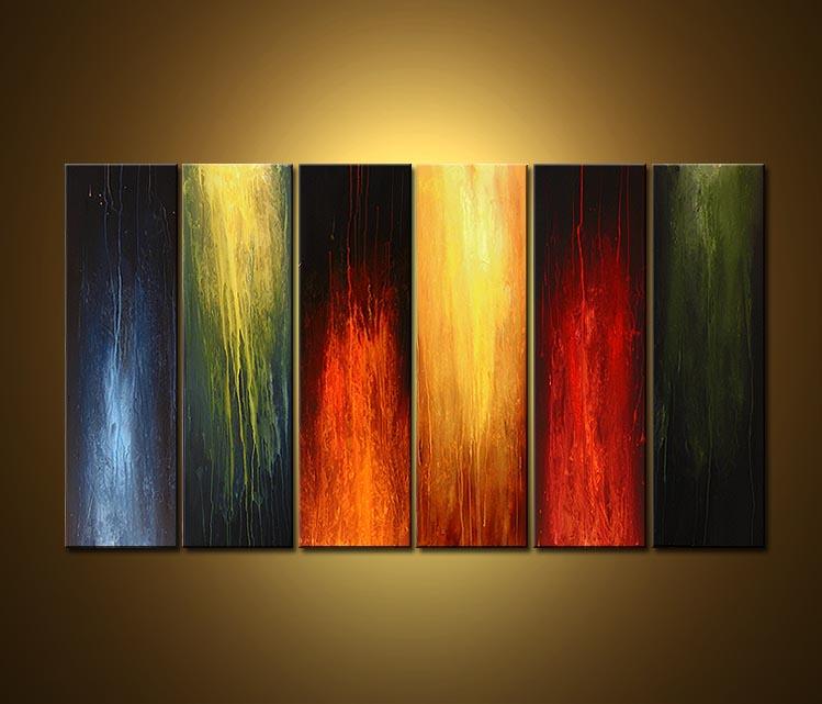 Pz c cuadros abstractos for Cuadros al oleo para decorar salones