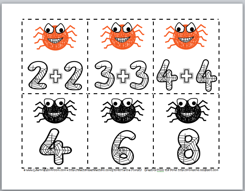 http://www.teacherspayteachers.com/Product/Spider-Addition-with-Doubles-329059