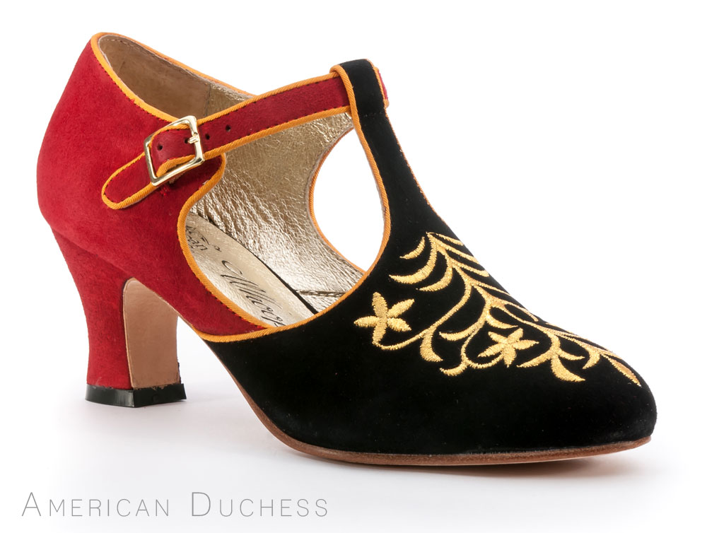 American Duchess 1920s Flapper Shoes