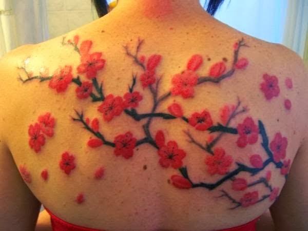 handsome  cherry blossom back tattoo  tattoos book   2510